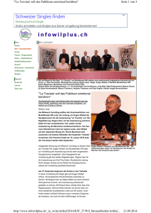 Infowilplus, 11. September 2014