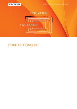 Code of Conduct - Wacker Chemie AG