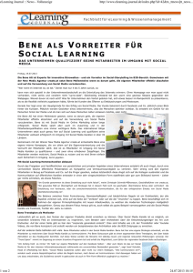 eLearning Journal :: News - Vollanzeige