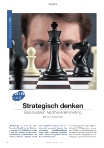 Strategisch denken - Apotheke und Marketing