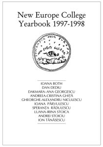 New Europe College Yearbook 1997-1998