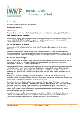 Bendamustin Informationsblatt