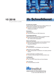 ifo Schnelldienst 13/2016 - Economics of Education in Europe