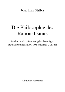 Die Philosophie des Rationalismus