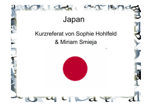 Referat Japan - Schul