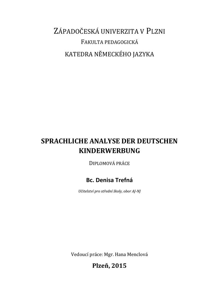 sprachliche analyse der deutschen kinderwerbung