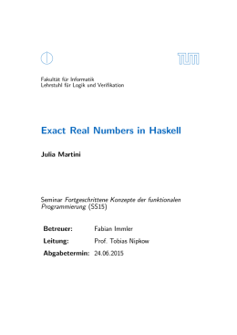Exact Real Numbers in Haskell