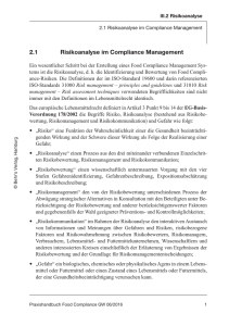 2.1 Risikoanalyse im Compliance Management