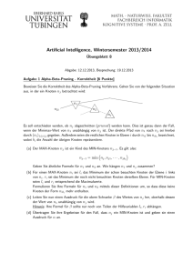 Artificial Intelligence, Wintersemester 2013/2014