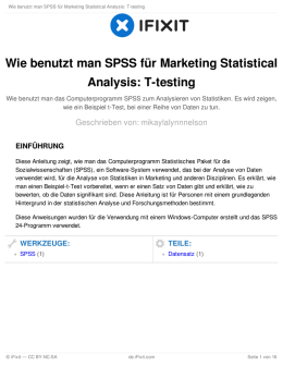 Wie benutzt man SPSS für Marketing Statistical Analysis: T