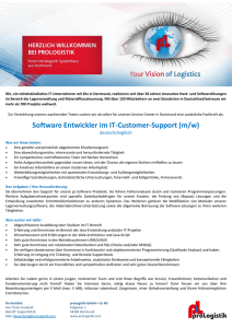 Software Entwickler im IT-Customer-Support (m/w)