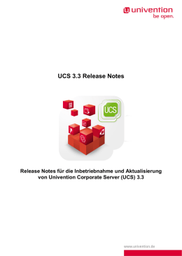 UCS 3.3 Release Notes