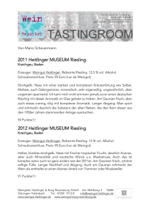 2011 Heitlinger MUSEUM Riesling 2012 Heitlinger MUSEUM Riesling