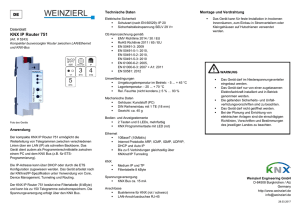 KNX IP Router 751 - Weinzierl Engineering GmbH