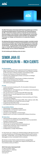 senior java ee entwickler/in – rich clients