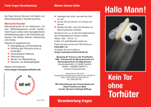 Flyer `Hallo Mann` - Stoppt Zwangsprostitution