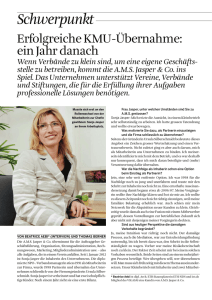 Interview im ORGANISATOR