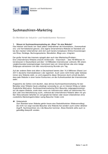 Suchmaschinen-Marketing - IHK Hannover