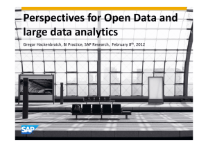 Perspectives for Open Data and large data analytics