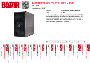 Standcomputer mit Intel core 2 duo