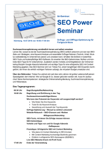 SEO Power Seminar