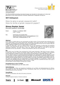 How to write a great research paper? Simon Peyton Jones