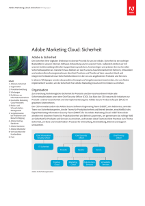 Adobe Marketing Cloud: Sicherheit
