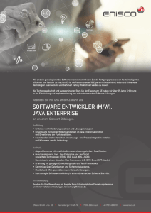 SOFTWARE ENTWICKLER (M/W), JAVA ENTERPRISE