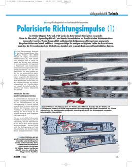 Polarisierte Richtungsimpulse (1) - Kato