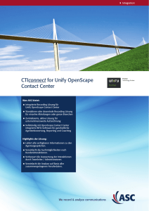 CTIconnect for Unify OpenScape Contact Center