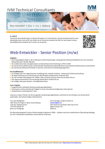 Web-Entwickler - Senior Position (m/w)