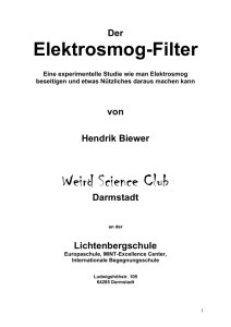 Elektrosmog-Filter Weird Science Club