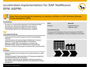 accelerated implementation for SAP NetWeaver BPM (ABPM)