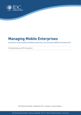 Managing Mobile Enterprises