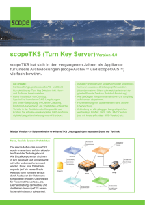 scopeTKS (Turn Key Server)Version 4.0
