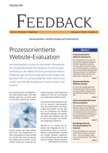 Prozessorientierte Website-Evaluation