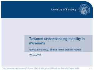 Towards understanding mobility in museums