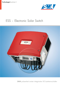 ESS – Electronic Solar Switch