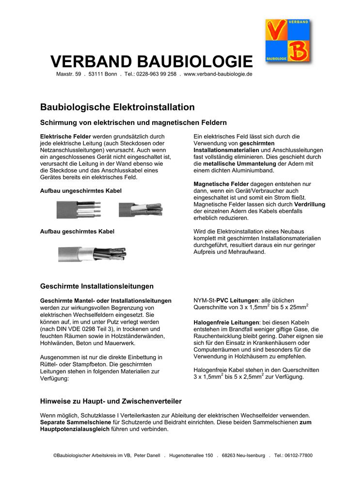 Charmant Abgeschirmte Elektrische Leitung Ideen - Der Schaltplan ...
