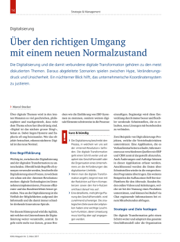 Digital Enterprise AG im KMU Magazin