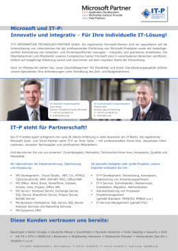 Flyer Competence Center Microsoft - IT