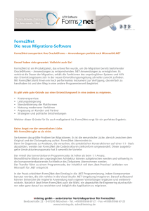 Forms2Net Die neue Migrations-Software