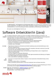 Software Entwickler/in (Java) - boersenvereinsgruppe