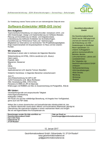 Software-Entwickler WEB-GIS (m/w)