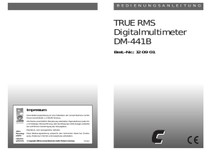 TRUE RMS Digitalmultimeter DM-441B