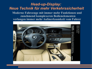 Head-up-Display: Neue Technik für mehr