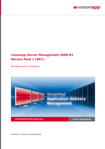 visionapp Server Management 2008 R2 Service Pack 1 (SP1)