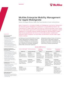 McAfee Enterprise Mobility Management für Apple‑Mobilgeräte
