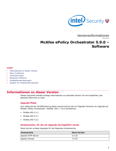 ePolicy Orchestrator 5.9 Versionsinformationen