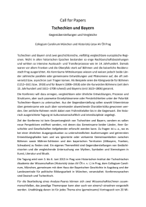 Call for Papers Tschechien und Bayern